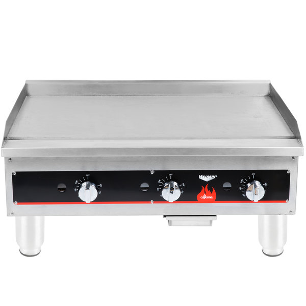 "Vollrath 40723 Cayenne 36"" Flat Top Gas Countertop Griddle - Thermostatic Control"