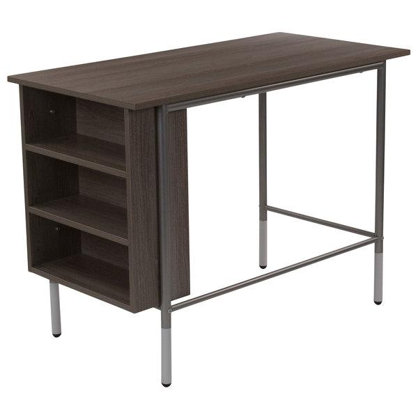 "Flash Furniture NAN-JN-21725-GG Hillside Applewood Desk - 39 1/2"" x 19 3/4"" x 28 3/4"" Main Image 1"