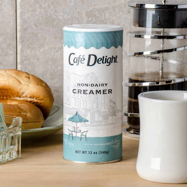 Cafe Delight 12 oz. Non-Dairy Powdered Creamer Canister Main Image 3