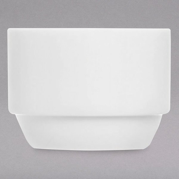 Chef & Sommelier FN030 Infinity 8.5 oz. White Bone China Bouillon by Arc Cardinal - 24/Case Main Image 1