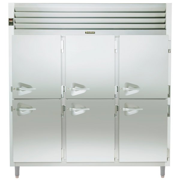 Traulsen RHT332WUT-HHS Stainless Steel 79 Cu. Ft. Half Door Three Section Reach In Refrigerator - Specification Line Main Image 1