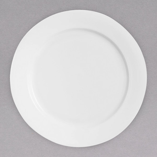 """Chef & Sommelier R1003 Infinity 9 5/8"""" White Bone China Dinner Plate by Arc Cardinal - 24/Case Main Image 1"""