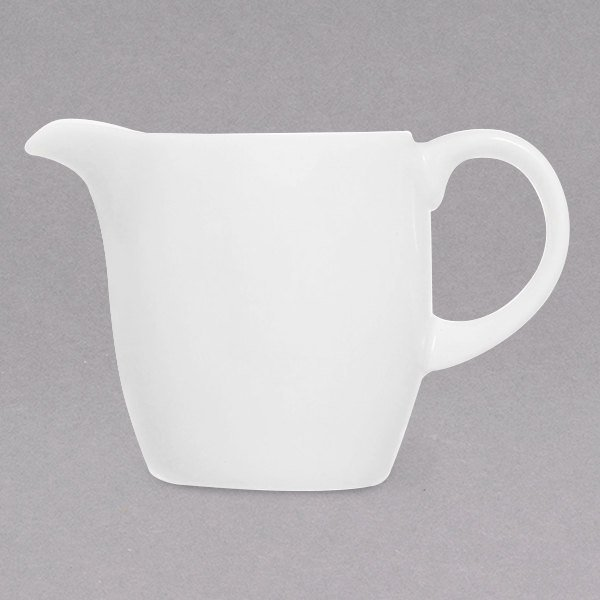 Chef & Sommelier FN017 Infinity 3.5 oz. White Bone China Creamer by Arc Cardinal - 24/Case Main Image 1