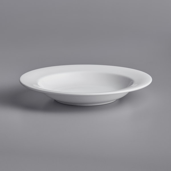 Chef & Sommelier FN008 Infinity 13 oz. White Bone China Soup / Pasta Bowl by Arc Cardinal - 12/Case Main Image 1