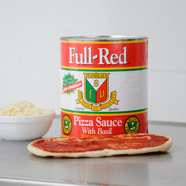 Stanislaus #10 Can Full-Red Pizza Sauce with Basil - 6/Case