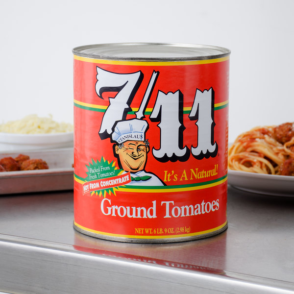 Stanislaus #10 Can 7/11 Ground Tomatoes in Heavy Puree - 6/Case Main Image 4