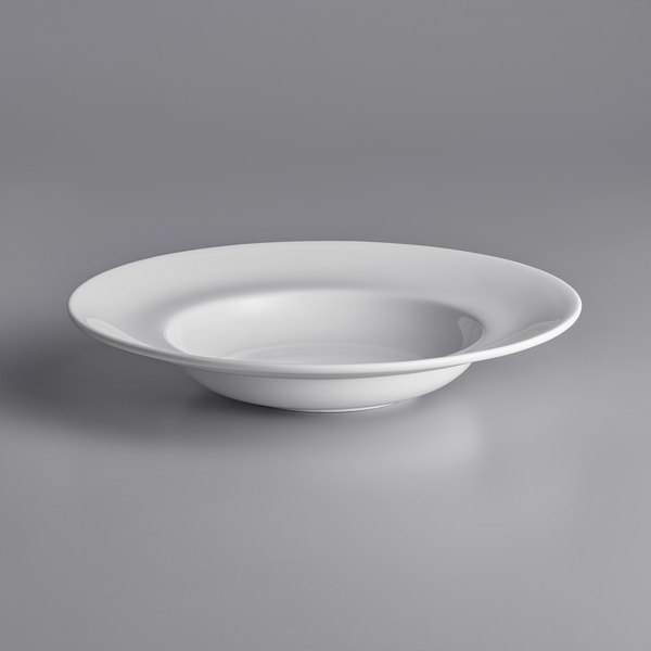 Chef & Sommelier FN011 Infinity 20 oz. White Bone China Pasta Bowl by Arc Cardinal - 12/Case Main Image 1