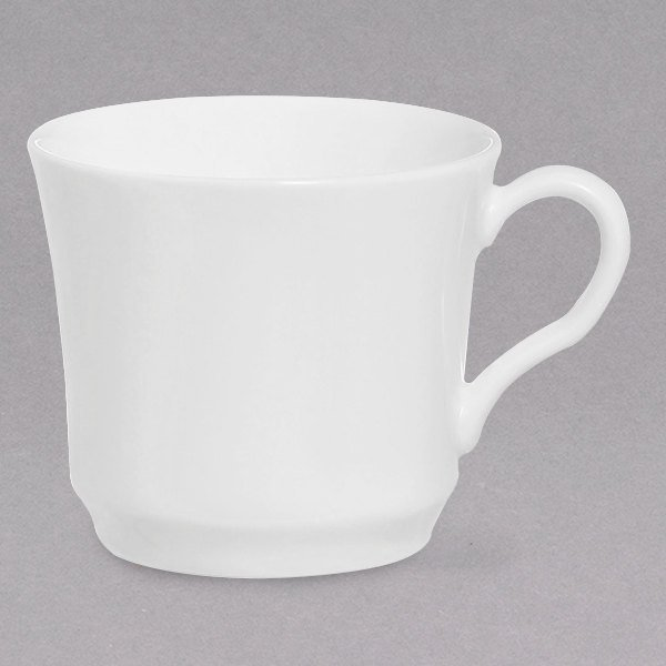 Chef & Sommelier FN028 Infinity 9 oz. White Bone China Coffee Cup by Arc Cardinal - 24/Case Main Image 1