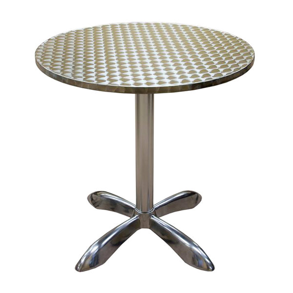 "American Tables & Seating AL30-Bar 27 1/2"" Round Bar Height Aluminum Table Main Image 1"