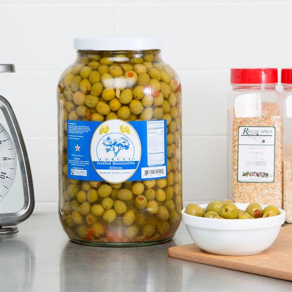 1 Gallon Stuffed Manzanilla Olives - 340/360 Count Main Image 6
