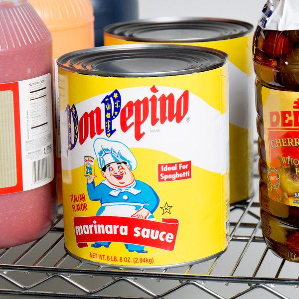 Don Pepino #10 Can Marinara Sauce - 6/Case Main Image 3