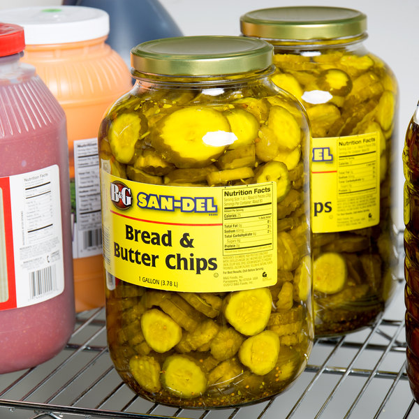 B&G 1 Gallon Sliced Bread and Butter Pickle Chips - 4/Case Main Image 6