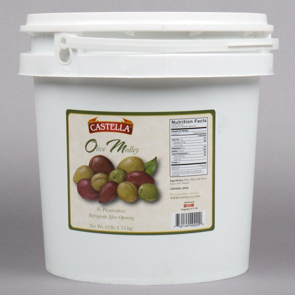 Castella 10 lb. Olive Medley with Pits