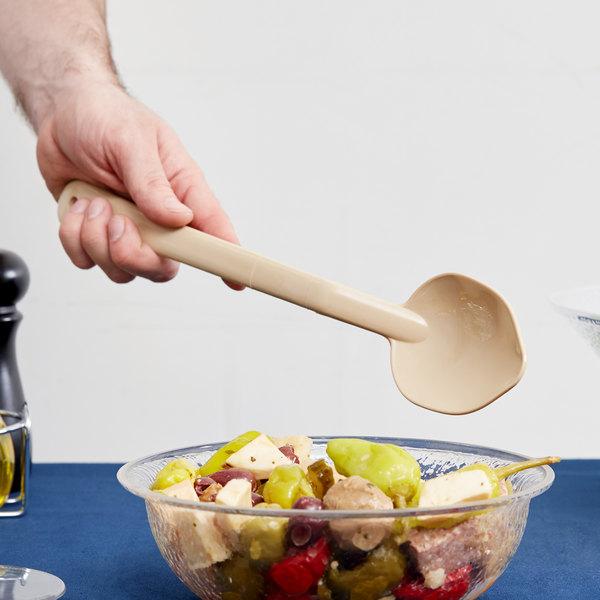 "Carlisle 442006 13"" Beige Salad Bar / Buffet Spoon Main Image 4"