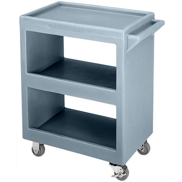 "Cambro BC2304S401 Slate Blue Three Shelf Service Cart - 33 1/4"" x 20"" x 34 5/8"""