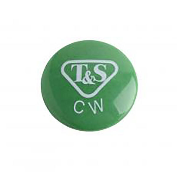 T&S 001191-45NS Green Cold Water Lab Index Button Main Image 1