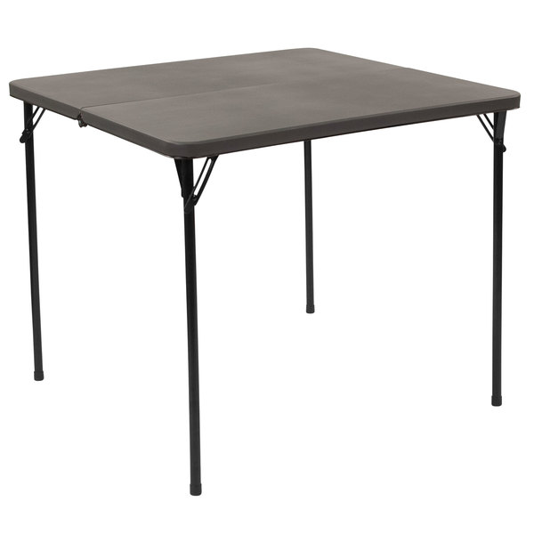 Flash Furniture Dad Lf 86 Dg Gg 34 Square Dark Gray Commercial Duty Plastic Bi Fold Folding Table