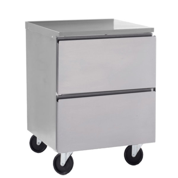 """Delfield GUR24P-D 24"""" ADA Height Undercounter Refrigerator with Two Drawers Main Image 1"""