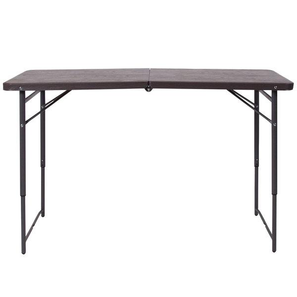 flash furniture dad lf 122z gg 23 1 2 x 48 1 4 rectangular brown wood