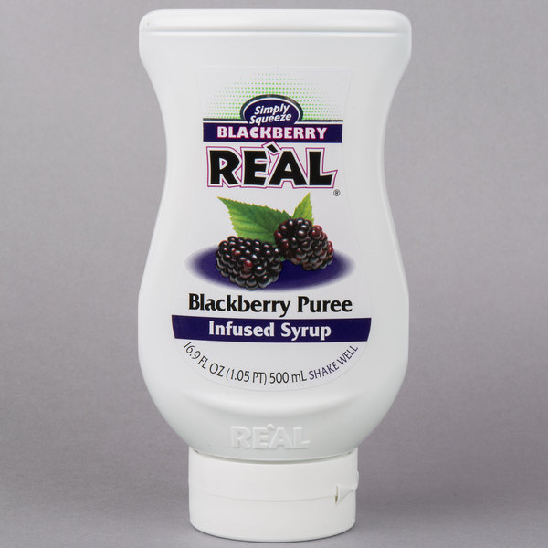 Real 16 9 fl  oz  Blackberry Puree Infused Syrup