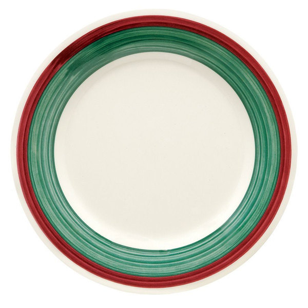 "GET WP-10-PO Diamond Portofino 10 1/2"" Wide Rim Plate - 12/Case"