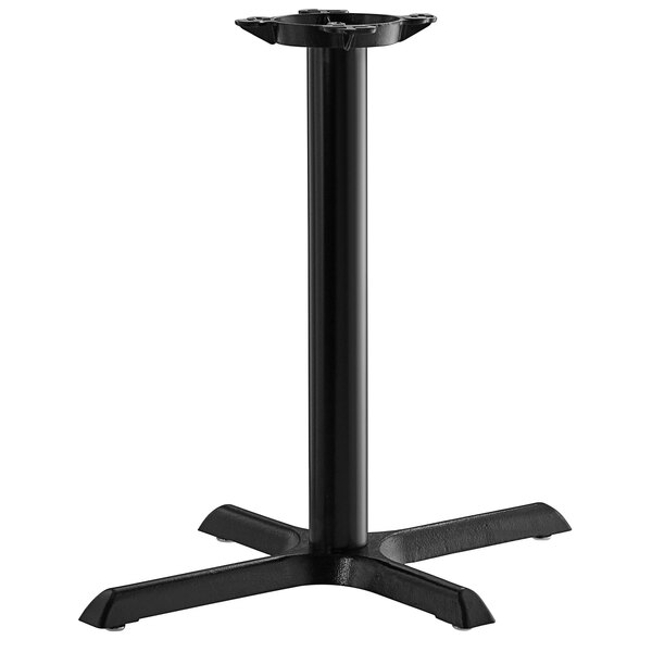 "Lancaster Table & Seating 22""x30"" Black 3"" Standard Height Column Table Base Main Image 1"