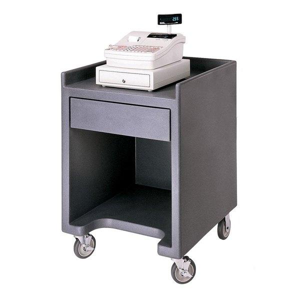 Cambro ES28110 Black Cash Register / Equipment Stand No Tray Rail