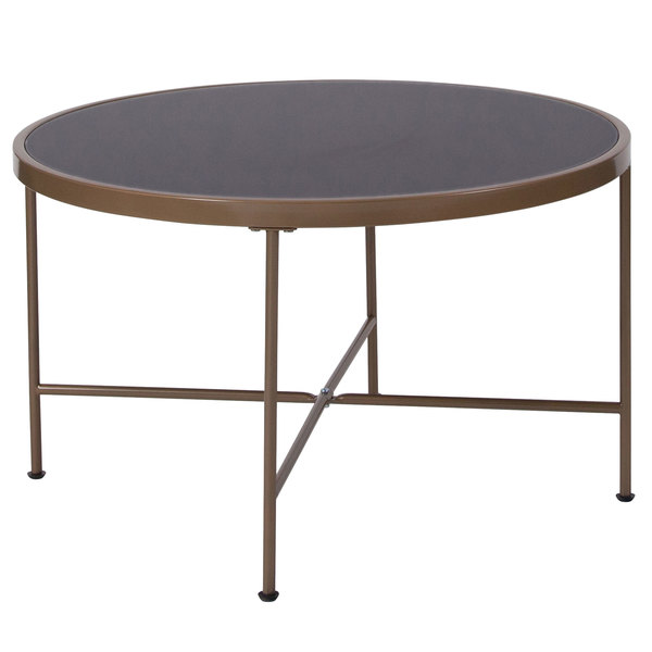 Round Black Glass Coffee Table 11