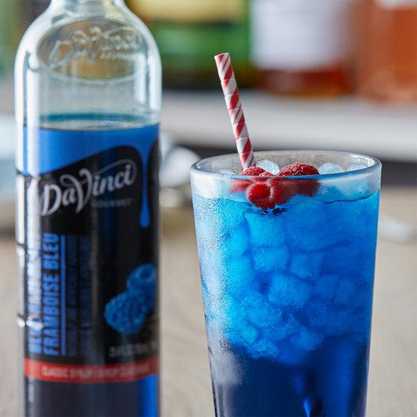 DaVinci Gourmet 750 mL Classic Blue Raspberry Flavoring Syrup Main Image 2