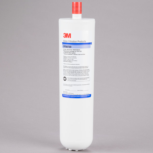 """3M Water Filtration Products 5631905 12 7/8"""" Replacement Sediment, Chlorine Taste and Odor Reduction Cartridge - 5 Micron and 1.5 GPM Main Image 1"""