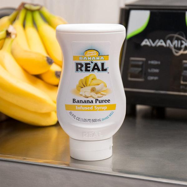 Real 16.9 fl. oz. Banana Infused Syrup