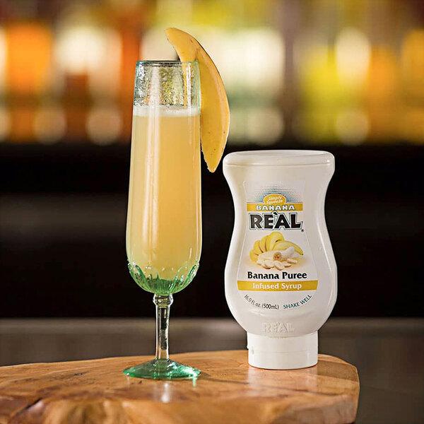 Real 16.9 fl. oz. Banana Puree Infused Syrup Main Image 4