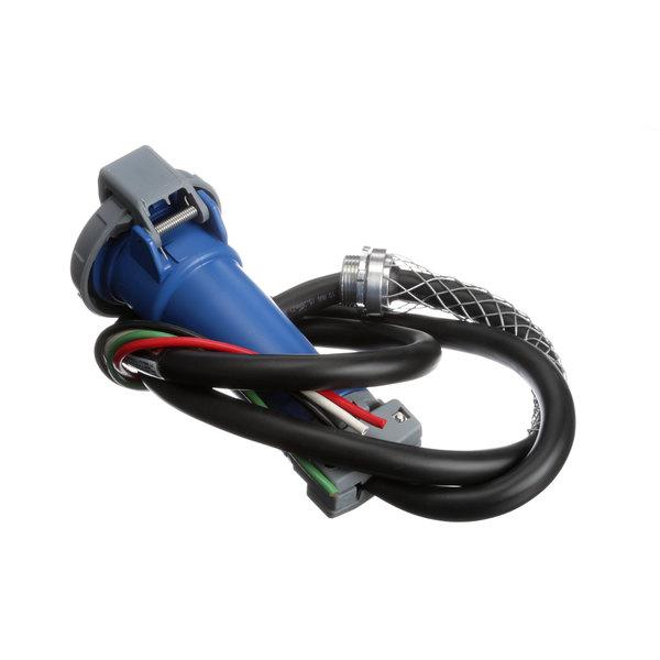 Hubbell 12360-0120 Drop Cord, 30a, 4pin, Blue, Conn Main Image 1