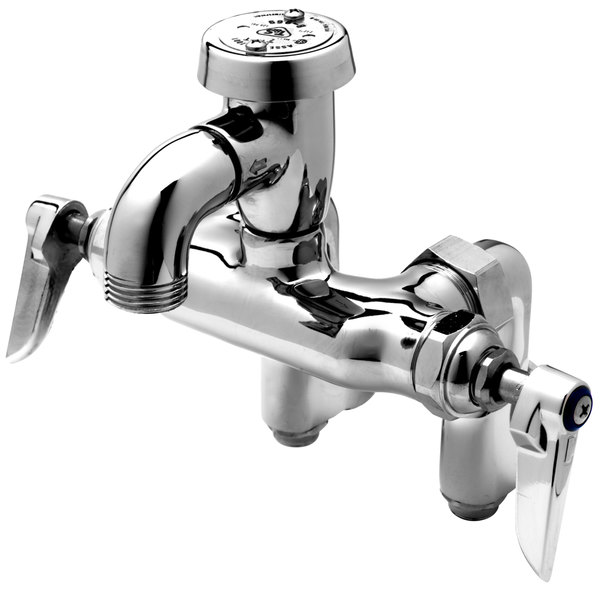 T&S B-0669-POL Service Sink Faucet with Integral Stops, Atmospheric ...