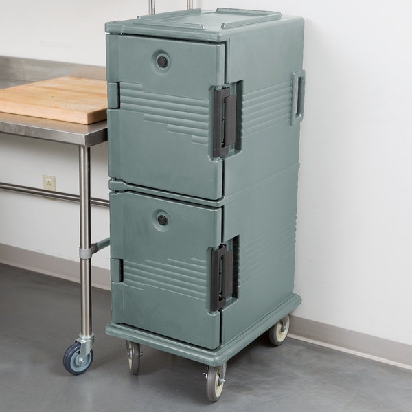 Cambro UPC800401 Ultra Camcarts® Slate Blue Insulated Food Pan Carrier - Holds 12 Pans Main Image 5