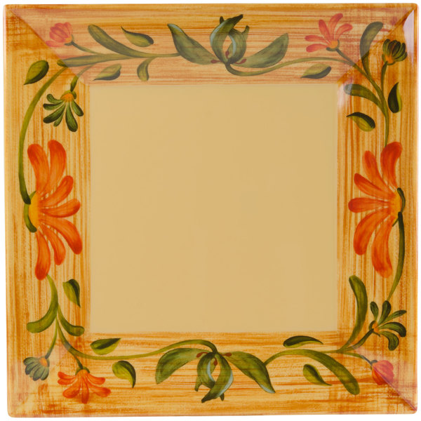 "GET ML-90-VN 12"" x 12"" Square Venetian Plate Main Image 1"