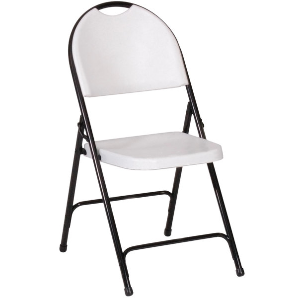 Correll RC350 23 Gray Granite with Black Frame Plastic Molded Folding Chair