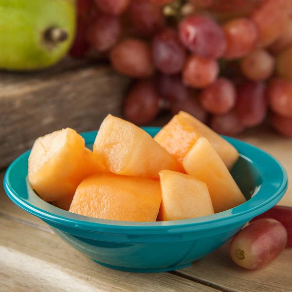 Carlisle PCD30515 Teal 5 oz. Polycarbonate Fruit / Monkey Dish - 48/Case