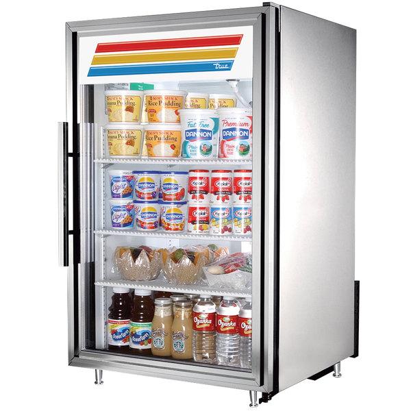 True GDM-7-S-LD Stainless Steel Countertop Display Refrigerator with Swing Door - 7 cu. ft.