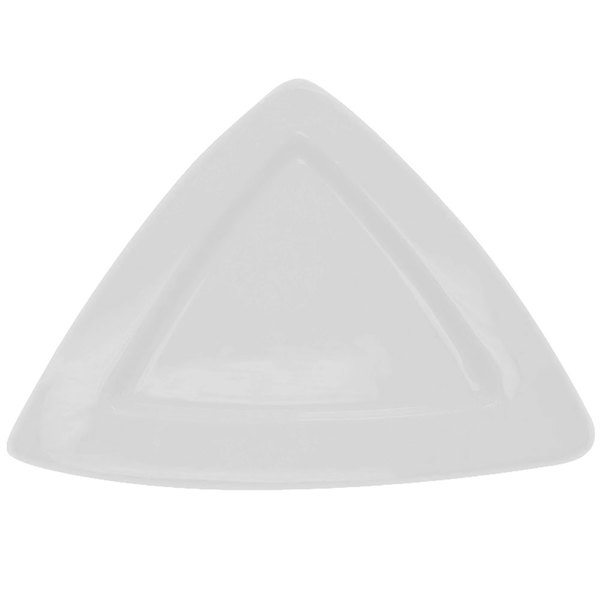 "CAC TRG-12 Festiware Triangle Deep Plate 11 1/2"" - Super White - 12/Case"