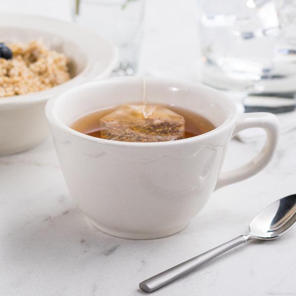 7 oz. Ivory (American White) Scalloped Edge China Coffee Cup / Mug - 36/Case