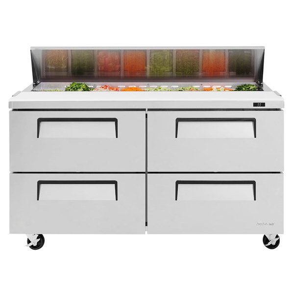 """Turbo Air TST-60SD-D4 60"""" 4 Drawer Refrigerated Sandwich Prep Table"""