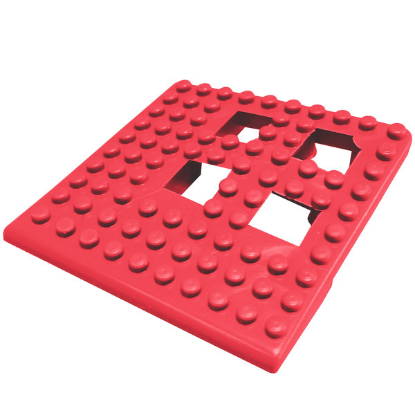"Cactus Mat Dri-Dek 2554-RC Red 2"" x 2"" Interlocking Vinyl Drain Tile Corner Piece - 9/16"" Thick Main Image 1"