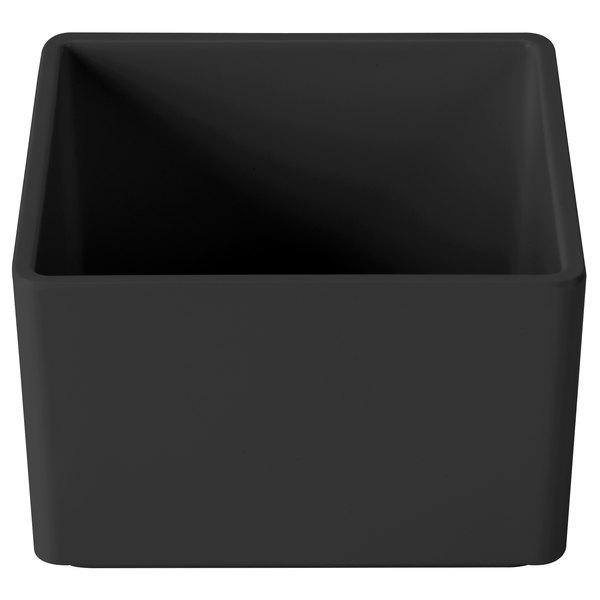 "Cal-Mil 1395-13M Cater Choice Black Melamine Box - 5"" x 5"" x 3"""