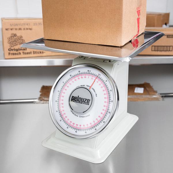 Rubbermaid FG10B200 Pelouze 200 lb. / 90 kg. Dual Read Mechanical Receiving Scale