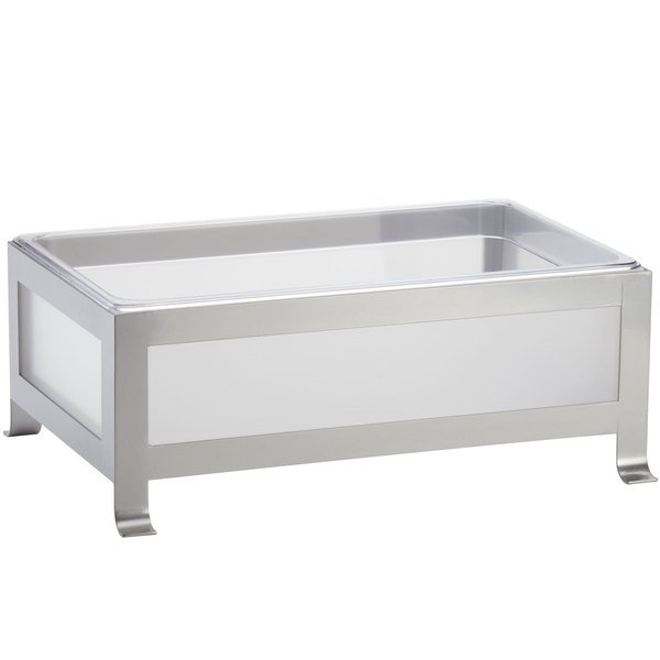 Cal Mil 1582 12 33 Soho Silver Ice Housing With Clear Pan 20 3 4 X 14 3 4 X 8