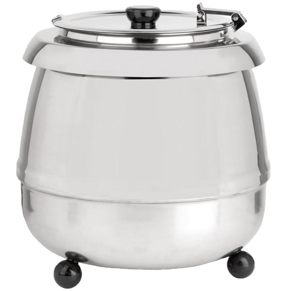 Restaurant Soup Warmer ~ Avantco s ss qt round stainless steel countertop food