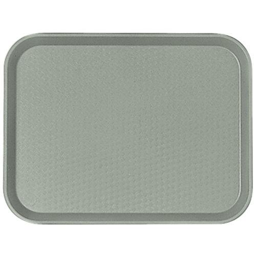 "Cambro 1418FF107 14"" x 18"" Pearl Gray Customizable Fast Food Tray - 12/Case"