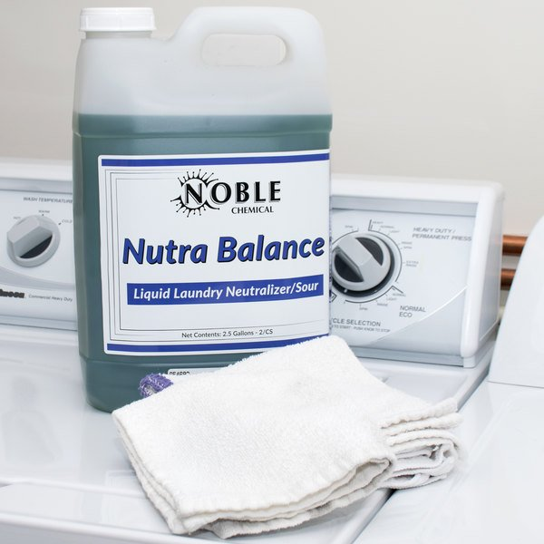 Noble Chemical 2.5 Gallon Nutra Balance Liquid Laundry Neutralizer / Sour - 2/Case