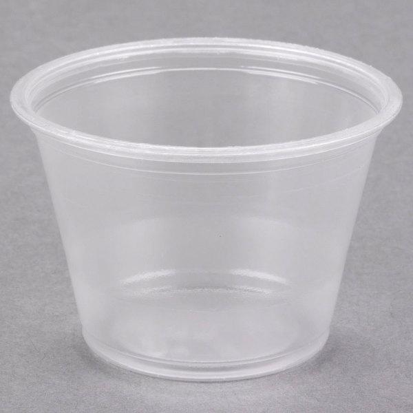 Dart Conex Complements 250PC 2.5 oz. Translucent Plastic Souffle / Portion Cup - 125/Pack